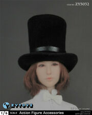 """1/6 Scale ZYTOYS ZY5032 Black Top Hat Accessory For 12"""" Figure Body Model Toy"""