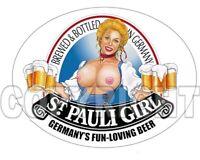 Bomber Girl Pin-Up St. Pauli Girl Beer blonde aryan boobs pinup girl sticker