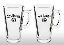 Jack Daniels Tall Whiskey Glass Mug X2 New