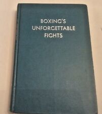 Bromberg Boxing's Unforgettable Fights First Ed 1962