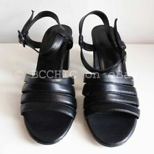 Leather Open Toe Solid Shoes for Women