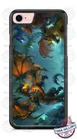 Fire Breathing Dragon Fantasy Design Phone Case for iPhone Samsung Google LG etc