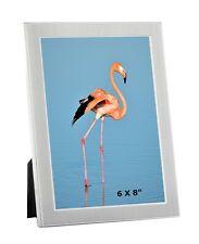 """Silver Colour Photo Picture Frame 6 x 8"""" Landscape Portrait Home Decor Gifts"""