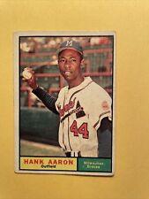 1961 HANK AARON Topps #415 Braves
