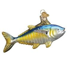 YELLOWFIN TUNA OLD WORLD CHRISTMAS GLASS FISH SPORT FISHING ORNAMENT NWT 12486