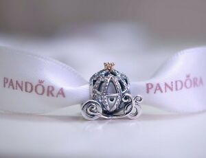 NEW PANDORA SILVER DISNEY CINDERELLA PUMPKIN CHARM BEAD 791573CZ UK GIFT