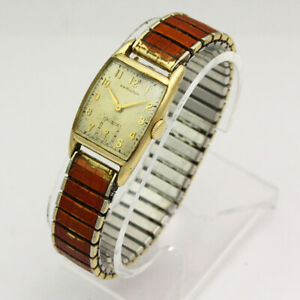 Vintage Hamilton Dennis 980 17 Jewel Manual  10K Gold Filled Wristwatch