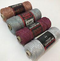 Vintage Anny Blatt Serpentine Ribbon Yarn Select Color Copper Wine Blue Gray