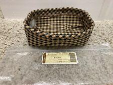 New ListingLongaberger Khaki Check Sm Loaf / Biscuit/ 06 Holiday Helper Basket Liner- New