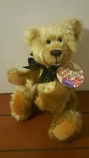 "Gund America's Teddy Bear Nesbit 11"" #15053 Faux Mohair Jointed Golden NWT"