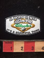 Golf Golfer Patch A MAN & HIS CLUBS ~ It's A Beautiful Thing S75D