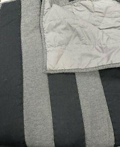 Pottery Barn Teen Benson Quilt Full/Queen Black/Gray NEW No Tags