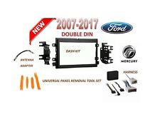 2007-2017 FORD DOUBLE DIN CAR STEREO INSTALL DASH KIT, WIRE HARNESS