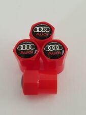 Audi Red Valve Capuchons Anti-Poussière Plastique Non Stick 5 Couleurs S Line RS R8 S5 A4 Q7 Rs3