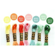 New DMC Floss Spring Rainbow 7 Skeins - Free Shipping!!