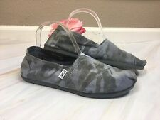 TOMS Womens Size 8.5 M Gray Army Camo Print Classic Slip On Shoes Flats