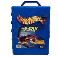 Vintage 2001 Mattel Hot Wheels - 48 Car Carry Case 20020 Box in Blue