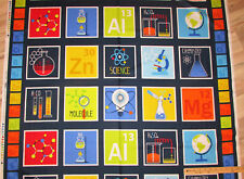 "Geek Chic Science Chemistry Periodic Table Chart Fabric  by the 23""Panel   #3730"