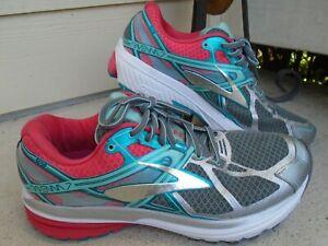 Womens Brooks Ravenna 7 Women's Running Shoes Pink/Green Size 10