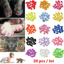20Pcs Soft Nail Caps Nail Covers Claw Caps Paw Covers for Cat Pet Dog Size