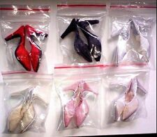 """Doll Shoes 6 PAIR SATIN & LACE fit CANDI 16"""" Fashion Dolls Tyler Gene Alex New"""