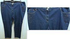 NEU Übergröße schicke Damen Stretch Jeanshose in blau mit Glitzersteine Gr.56