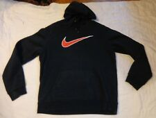 Nike Thermal Fleece Lining Stay Warm,Lg Men,L/S Hood Sweatshirt,Top,Black,Exce l