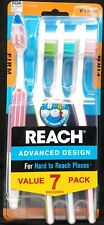 REACH Advanced Design Adult Toothbrush 7 Count Firm Bristle Toothbrushes
