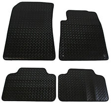 Peugeot 407 Fully Tailored 4 Piece Rubber Car Mat Set with 2 Clips