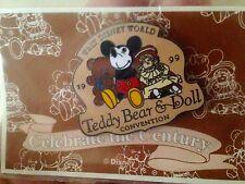 1999 WDW Walt Disney World Teddy Bear & Doll Convention Mickey Mouse Pin