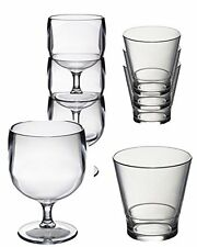 Special Stacking Set Polycarbonate unbreakable reusable wine and whisky glasses