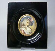 (G2424) Miniatur, Portrait  Lady Georgiana, Duchess of Devonshire, im Holzramen