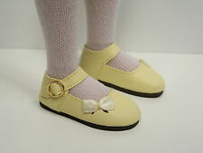 """Lt Yellow Sidebow Doll Shoes For 14"""" Kish Chrysalis Lark Song Piper Raven Debs"""