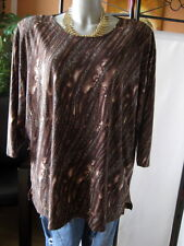 Bexleys schönes Shirt Gr.52-54-XXL 3/4Arm braun+Edel Muster & TOP