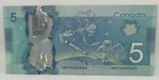 Canadian 2013 Radar Note Frontiers issue Serial # HBP5689865