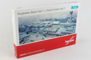 HE520362 Herpa Wings Airport Basic Set 1 Model Airport Diorama
