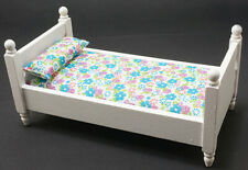 Dollhouse Miniatures 1:12 Scale Single Bed, White #CLA10069
