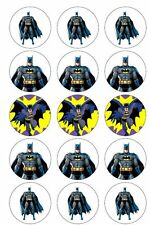 Batman Action Hero BADGE Buttons Party Favour Lolly Bag Loot Birthday Card