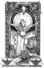 SEXY LION QUEEN LTD EDITION ART PRINT  Tom FLEMing