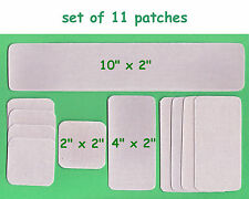 11 Canvas Heat Seal Iron On Patches ~ Tent Canopy Awning Tarp Cover Patch Repair