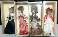 Vintage French Ceramic Dolls/ Lot of Four/ Collectible
