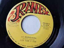 """LOS TAM y TEX - La Musiquera / Ay Amigo 1979 LATIN CUMBIA Ramex 7"""""""