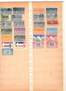 24 different US special delivery stamps some used, mint, and mnh