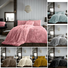 Luxury Teddy Hug And Snug Duvet Set Cosy Fleece Fluffy Fur Warm Duvet Covers New