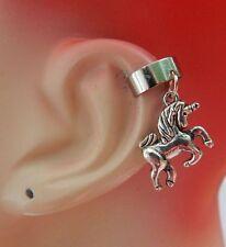 Silver Unicorn Charm Drop/Dangle Ear Cuff Handmade Jewelry Accessories NEW
