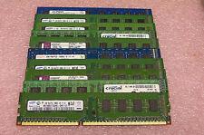 Lot of 10 2GB PC3 10600U & 8500U Micro Elpida Samsung etc. Desk Top Memory
