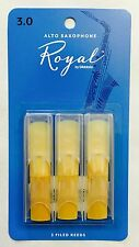Royal by D'Addario Rico Alto Saxophone Reeds #3 (3-Pack) NEW rjb0330