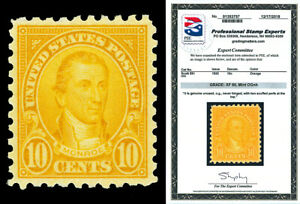 Scott 591 1925 10c Monroe Perf 10 Rotary Press Issue Graded XF 90 NH w/ PSE CERT
