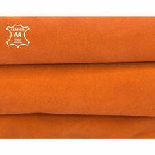 Orange Suede Leather Pieces    Summer Color Velour    Soft Lambskin Hides    Gen