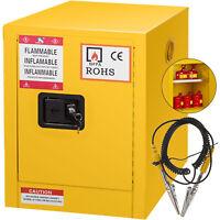 12 Gallon Yellow Safety Storage Cabinet Hazardous Storage Warning Label Steel